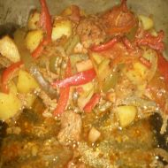 Vepřové maso se zeleninou v alobalu recept
