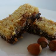 Ořechovo-čokoládové tyčinky recept