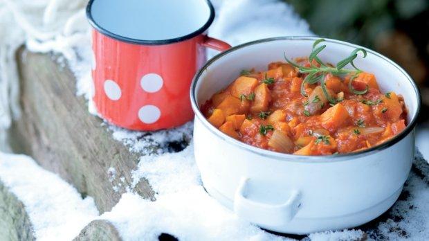 Dýňový kotlík s fazolkami azuki