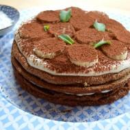 Kakaový dort se šlehačkou a banánem recept