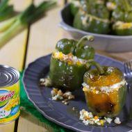 Zapečené zelené papriky s kukuřičným rizotem recept