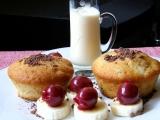 Čokoládovo-banánové muffiny recept