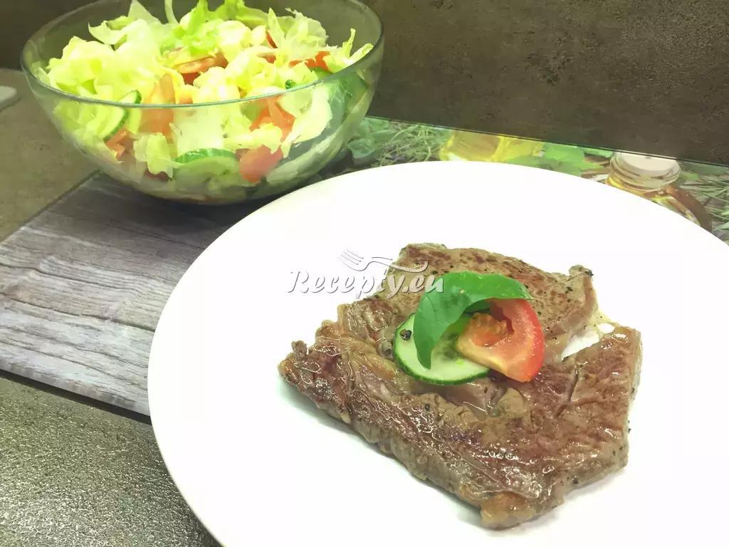 Hovězí steak s hořčičnou omáčkou recept  hovězí maso