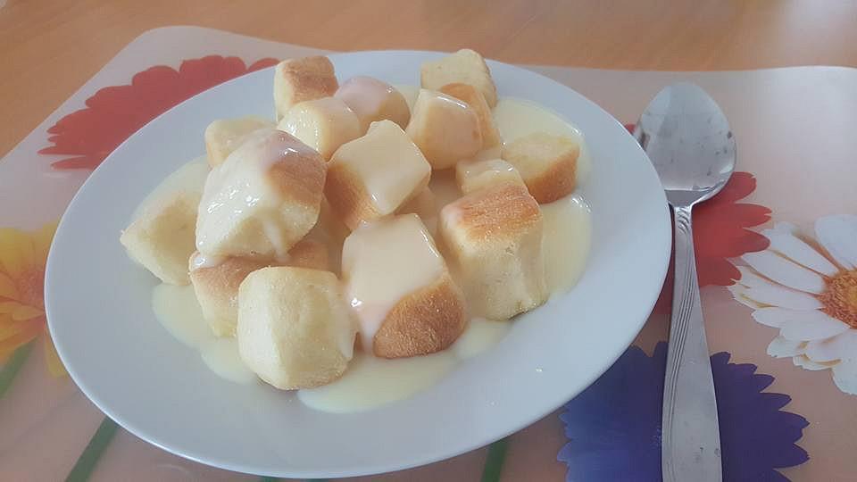 Buchtičky s vanilkovým pudinkem recept