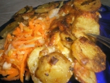 Pangas zapečený s česnekovo-pórkovými brambory recept ...