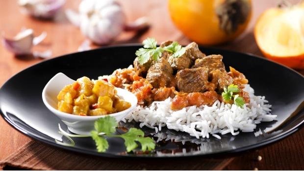Indická jehněčí masala s chutney z kaki