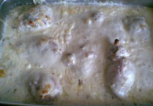 Kuřecí stehna se sýrovou krustou