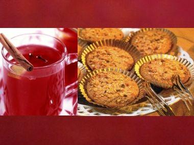 Brusinkový punč a lískové sušenky