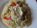 Těstovinový salát se zeleninou a sýrovou zálivkou recept ...
