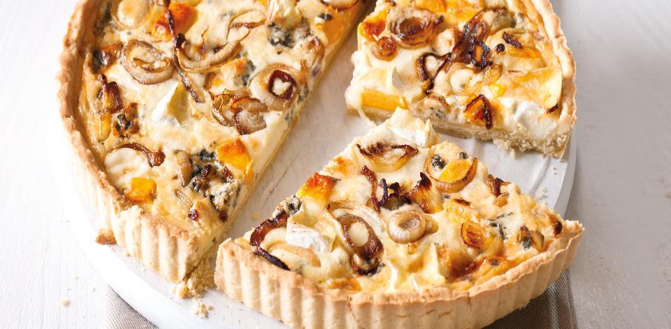 Sýrovo-cibulový koláč