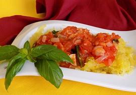 Špagetová dýně s rajčaty recept