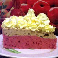 Dvoubarevný zmrzlinový dort recept