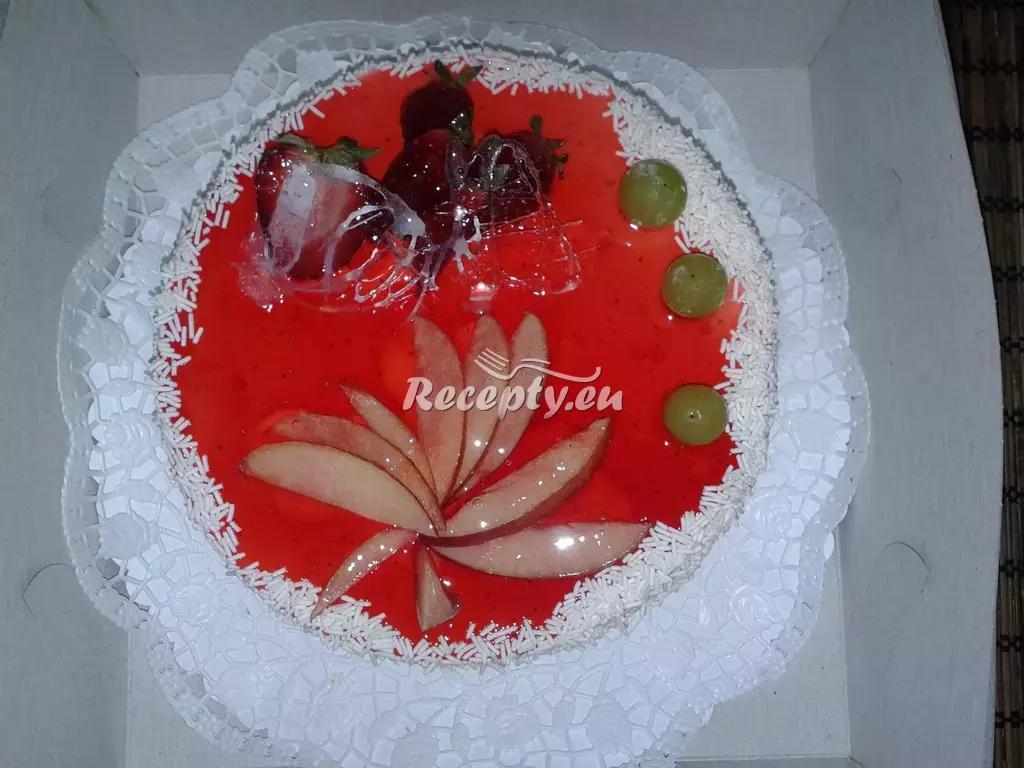 Rychlý piškotový dort recept  dorty