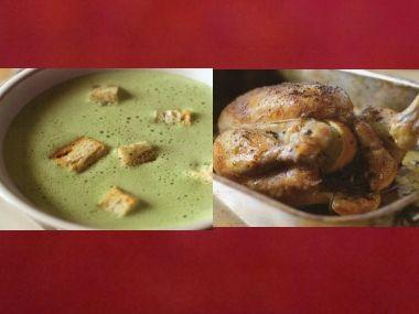 Sváteční oběd 14  Studená polévka a kuře s citronem