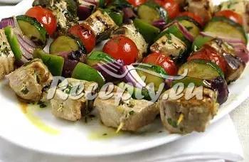 Zeleninový špíz s kuřecím masem recept  zeleninové pokrmy ...