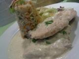 Kuřecí prsíčko s rokfórovým přelivem a zeleninovým rizotkem recept ...