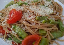 Špagety s cukrovým hráškem recept