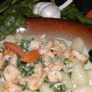 Gnocchi se špenátovou omáčkou recept