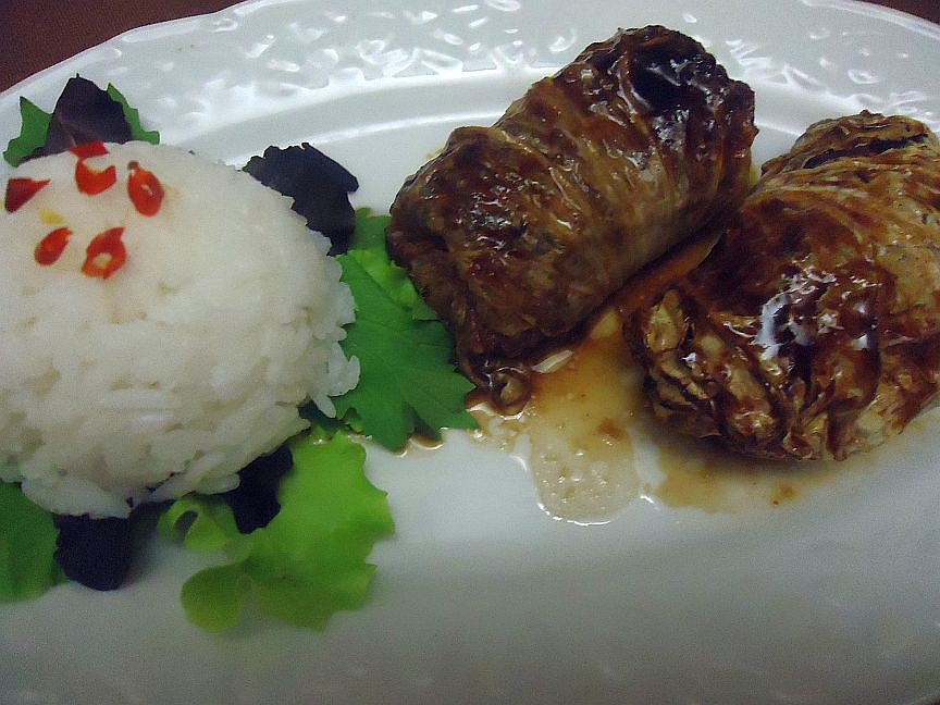 Vietnamské vepřové závitky v čínském zelí recept