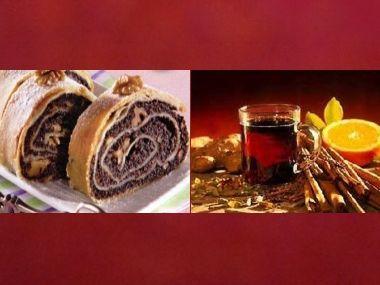 Rumový závin a vánoční čaj