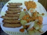 Tempeh s pečeným bramborem a mrkví recept