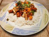 Barevné tofu s jasmínovou rýží recept