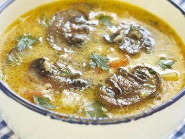 Rybí polévka se žampióny