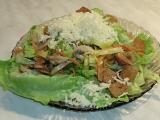 Hlávkový salát s houbami a krutony recept