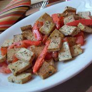Bylinkové tofu s uzeným lososem recept