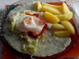Rychlá bílá koprovka se sázeným vejcem recept