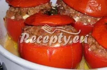 Zapečená rajčata plněná klobásou recept  uzeniny