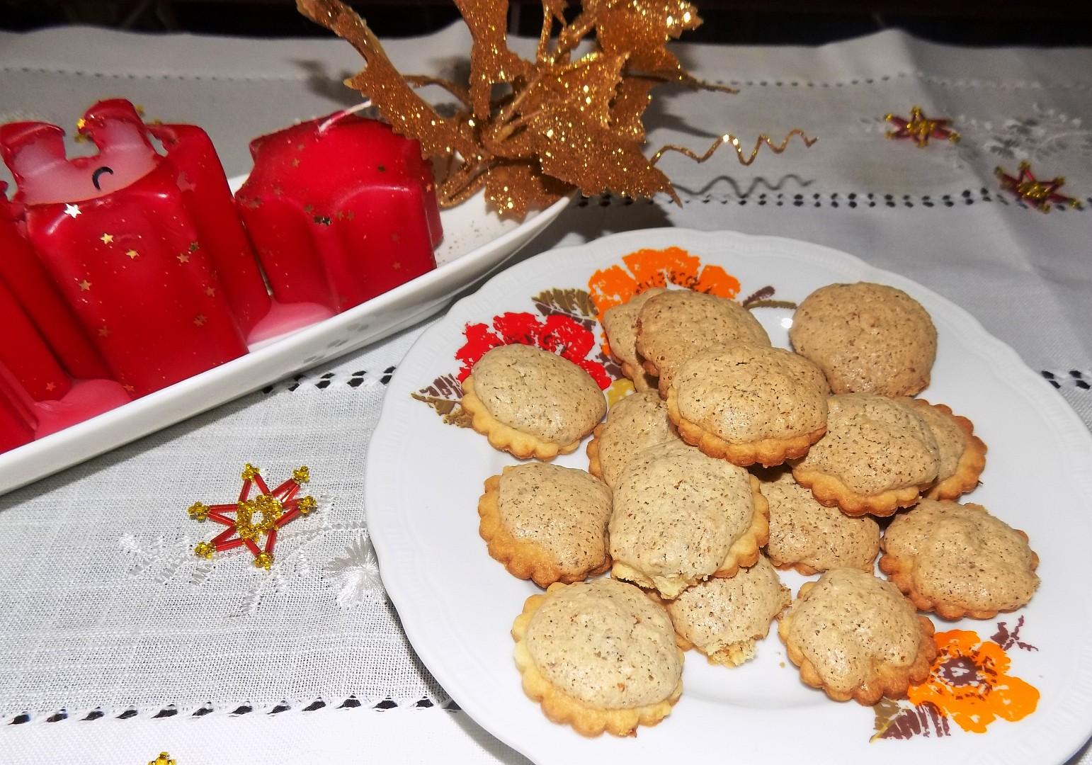 Koláčky s ořechovým sněhem recept