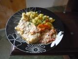 Zapékané kuřecí maso s Nivou na rajčatech recept