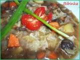 Hlávková polévka s houbami recept