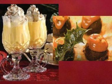 Brandy Egg-Nogg a karamelové košíčky
