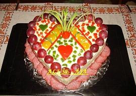 Slaný dort  srdíčko recept