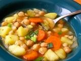 Zeleninová polévka s cizrnou recept