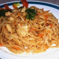 Rýžové nudle s kuřecím masem a mrkví recept