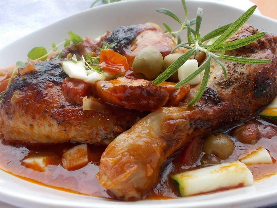 Kuřecí stehna na olivách a bylinkách recept