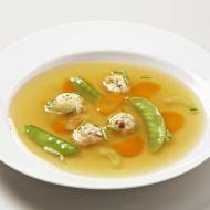Polévka s tyrolskými knedlíčky a zeleninou recept