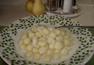 Gnocchi s gorgonzolou a hruškou