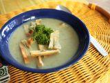 Krémová bramborovo-houbová polévka a svítek s libečkem recept ...