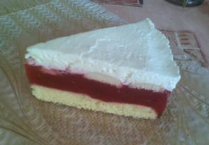Malinový dort  bez křoupání