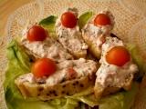Játrovo-rajčátková pomazánka s Cottage a pažitkou recept ...
