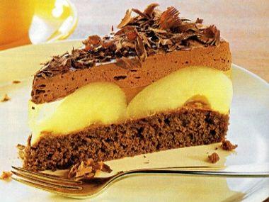 Jemný hruškový dort