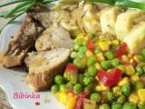 Dvojí maso pečené na zázvoru s dušenou zeleninou recept ...