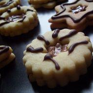 Linecké cukroví plněné nutelou recept