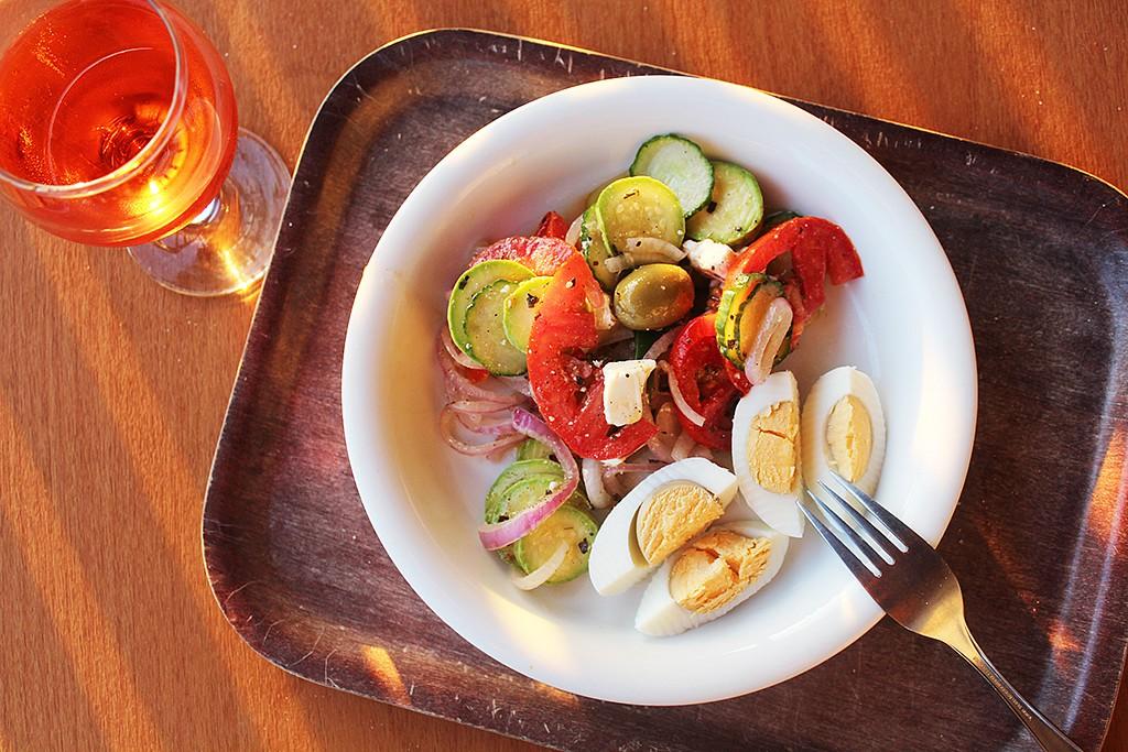 Sebraný letní salát recept