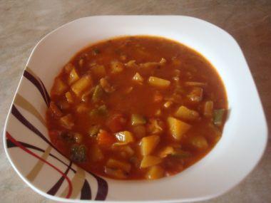 Cuketovo  zeleninový guláš