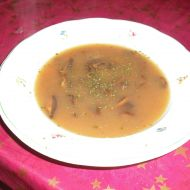Houbová polévka ze sušených hub recept